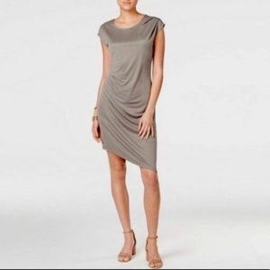 Bar III Draped Asymmetrical Jersey Dress Small NWT